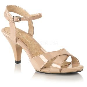 Beige 8 cm Fabulicious BELLE-315 low heeled sandals