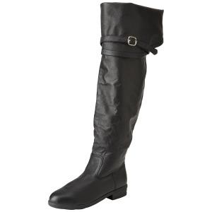 Black Leather 4 cm MAVERICK-2045 Thigh High Boots for Men