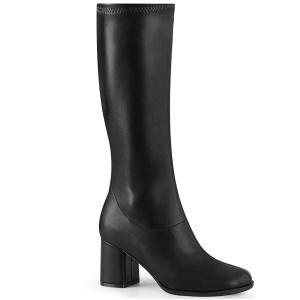 Black Vegan 7,5 cm GOGO-300-2 boots with block heels