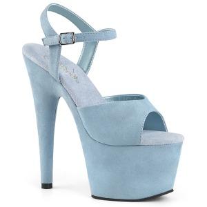 Blau Kunstleder 18 cm ADORE-709FS Sandaletten mit high heels