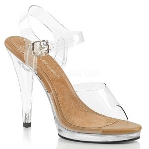 Braun 11,5 cm FLAIR-408 High Heel Sandaletten Damen
