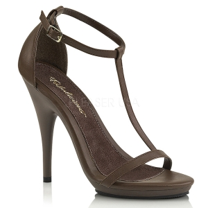 Brown 12,5 cm Fabulicious POISE-526 high heeled sandals
