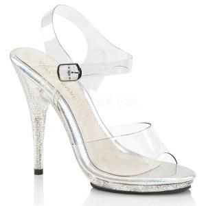 Glitzern 12,5 cm Fabulicious POISE-508MG Sandaletten mit high heels