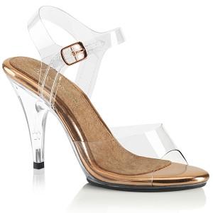 Gold 10 cm CARESS-408 Sandaletten mit high heels