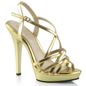 Gold 13 cm Fabulicious LIP-113 Sandaletten mit high heels