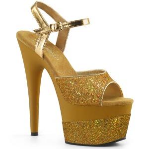 Gold 18 cm ADORE-709-2G glitter plateau sandaletten