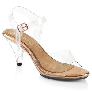 Gold 8 cm BELLE-308 Sandaletten mit high heels