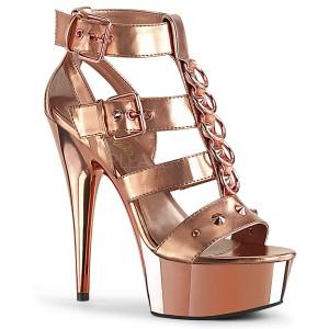 Gold Kunstleder 15 cm DELIGHT-658 pleaser schuhe high heels