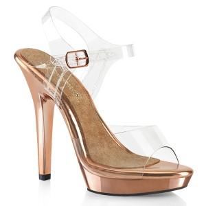 Gold Rose 13 cm LIP-108 fabulicious posing high heels schuhe