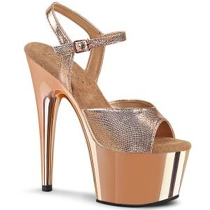 Gold chrome plateau 18 cm ADORE-709 pleaser high heels