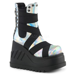 Hologramm 12 cm Demonia STOMP-25 gothic stiefeletten plateausohle