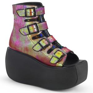 Hologramm 9 cm VIOLET-150 open toe ankle booties