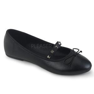 Leatherette DEMONIA DRAC-07 ballerinas flat womens shoes