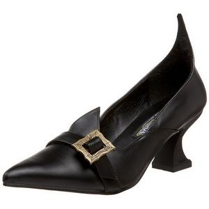 Matte 6,5 cm SALEM-06 Witch Pumps Shoes Flat Heels