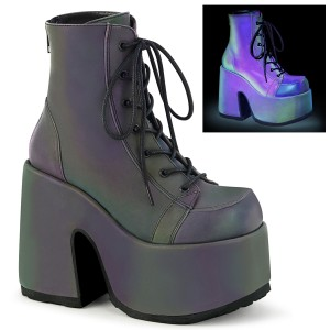 Neon 13 cm CAMEL-203 demonia boots mit plateausohle