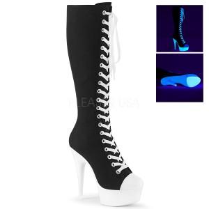 Neon 15 cm DELIGHT-2000SK Leinenstoff high heels chucks stiefel