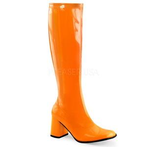 Orange Neon 7,5 cm FUNTASMA GOGO-300UV Women Knee Boots