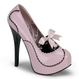 Pink Lack 14,5 cm Burlesque BORDELLO TEEZE-01 Plateau Pumps