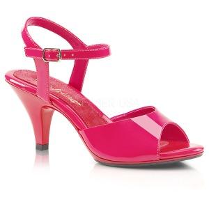 Pink Lack 8 cm BELLE-309 High Heel Sandaletten Damen