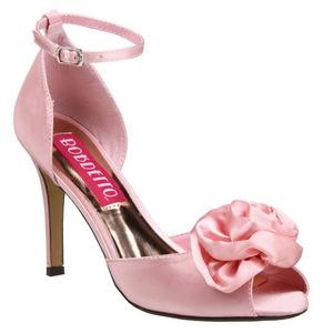 Pink Satin 9,5 cm ROSA-02 High Heel Sandaletten Damen