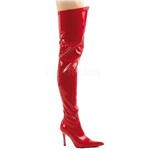 Red Shiny 9,5 cm LUST-3000 overknee high heel boots