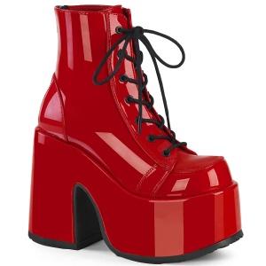 Red Vegan 13 cm CAMEL-203 demonia ankle boots platform