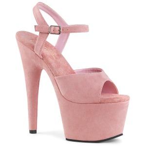 Rosa Kunstleder 18 cm ADORE-709FS Sandaletten mit high heels