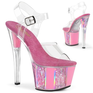 Rosa transparent 18 cm SKY-308OF exotic pole dance schuhe