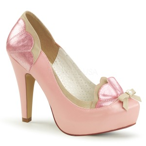Rose 11,5 cm retro vintage BETTIE-20 Pinup pumps with hidden platform