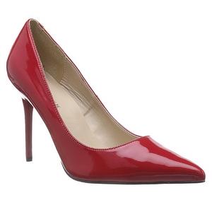 Rot Lack 10 cm CLASSIQUE-20 Damen Pumps Stiletto Absatz