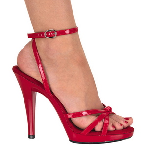 Rot Lack 12 cm FLAIR-436 High Heels Damenschuhe für Herren