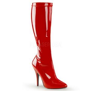 Rot Lack 13 cm SEDUCE-2000 High Heels Damenstiefel für Männer