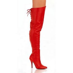 Rot Leder 13 cm LEGEND-8899 Overknee Stiefel für Männer