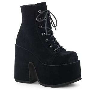 Samt 13 cm CAMEL-203 demonia boots mit plateausohle