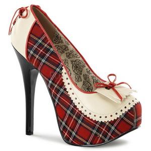 Schottenkaro 14,5 cm Burlesque TEEZE-26 Damenschuhe mit hohem Absatz