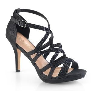 Schwarz 9,5 cm DAPHNE-42 Sandaletten mit stiletto absatz