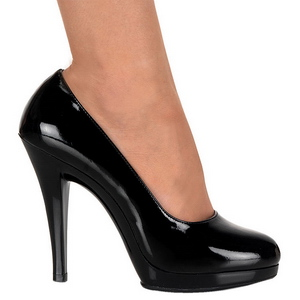 Schwarz Lack 11,5 cm FLAIR-480 Damen pumps für männer