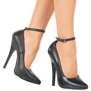 Schwarz Lack 15 cm DOMINA-431 High Heels Pumps für Männer