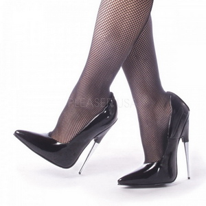 Schwarz Lack 15 cm SCREAM-01 Fetish Damen Pumps Schuhe