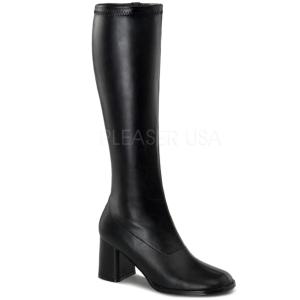 Schwarz Matt 7,5 cm Funtasma GOGO-300 Damen Stiefel