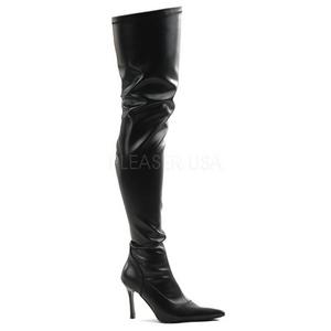 Schwarz Matt 9,5 cm LUST-3000 overknee high heels stiefel