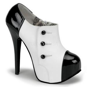 Schwarz Weiss 14,5 cm Burlesque TEEZE-20 Damenschuhe mit hohem Absatz