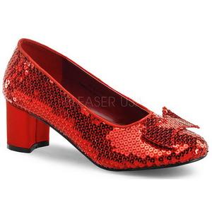 Sequins 5 cm DOROTHY-01 Pumps with low heels