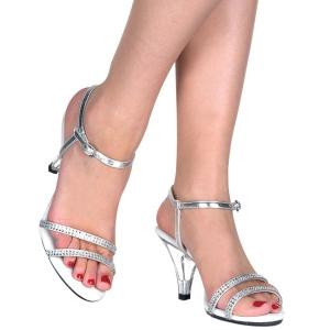 Silber Strasssteinen 8 cm BELLE-316 high heels für männer
