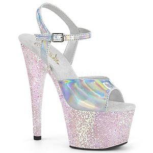 Silber glitter plateau 18 cm ADORE-709HGG pleaser high heels