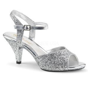 Silber glitzern 8 cm BELLE-309G high heels für männer