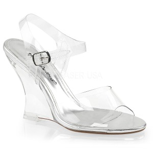 Transparent 10,5 cm LOVELY-408 Women Wedge Sandals