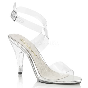 Transparent 10 cm CARESS-412 High Heeled Evening Sandals