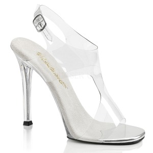Transparent 11,5 cm GALA-07 High Heeled Evening Sandals