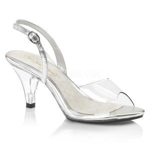 Transparent 8 cm BELLE-350 Sandaletten mit high heels